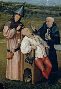 Hieronymus Bosch's 'The Operation for the Stone (The Cure of Folly)'